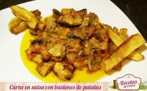 Carne en salsa con patatas