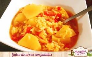 Guiso de patatas con arroz