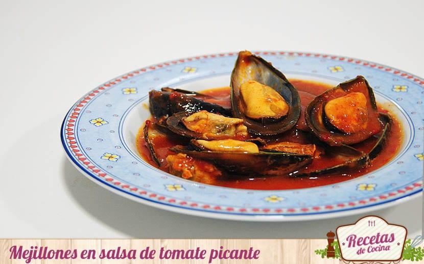 Mejillones en salsa de tomate picante