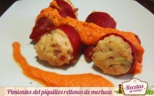 Pimientos del piquilo rellenos de merluza