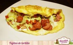 Fajitas de tortilla