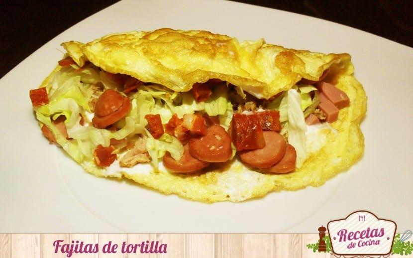 Receta fácil y rápida: Fajitas de tortilla francesa