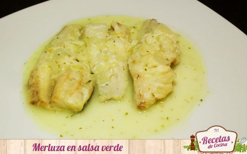 Receta R Pida De Merluza En Salsa Verde
