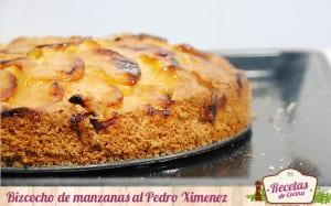 Bizcocho de manzanas al Pedro Ximénez
