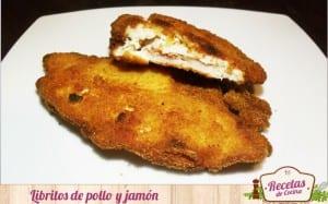 Libritos de pollo y jamón