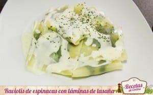 Raviolis de espinacas