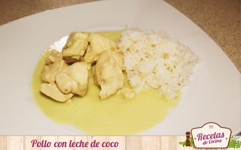 Pollo con leche de coco