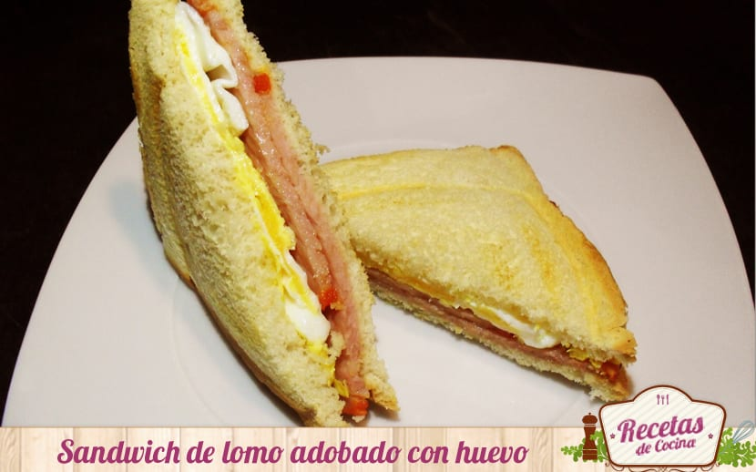 Sandwich de lomo y bacon