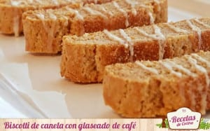 Biscotti de canela con glaseado de café