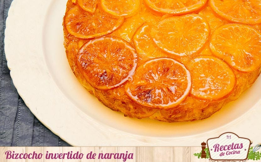 Bizcocho invertido de naranja