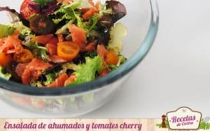 Ensalada de ahumados y tomates cherry