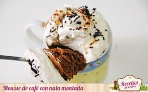Mousse de café con nata montada