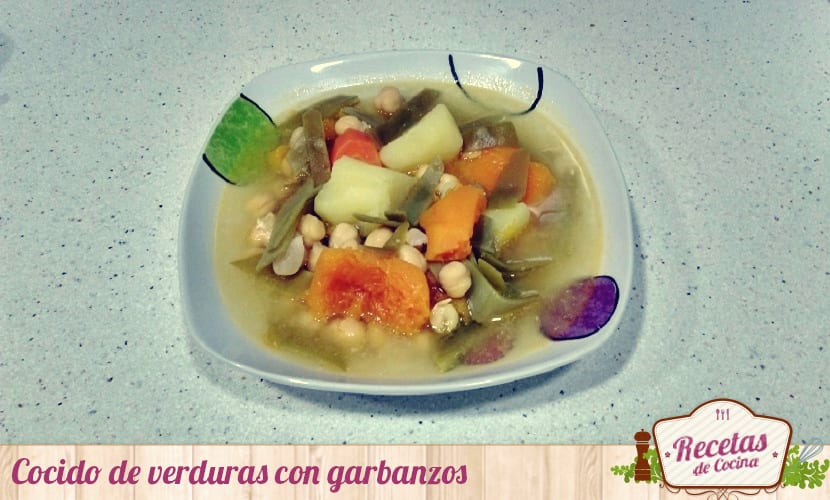 Cocido de verduras con garbanzos