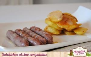 Salchichas al vino con patatas