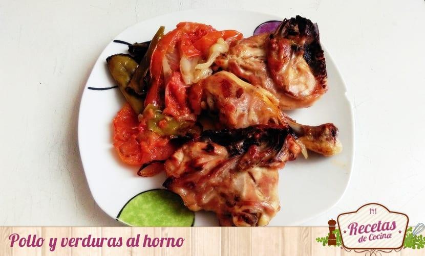 Pollo y verduras al horno