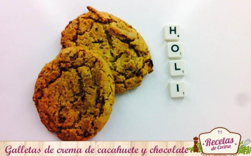 Gallletas de chema de cacahuete y chocolate