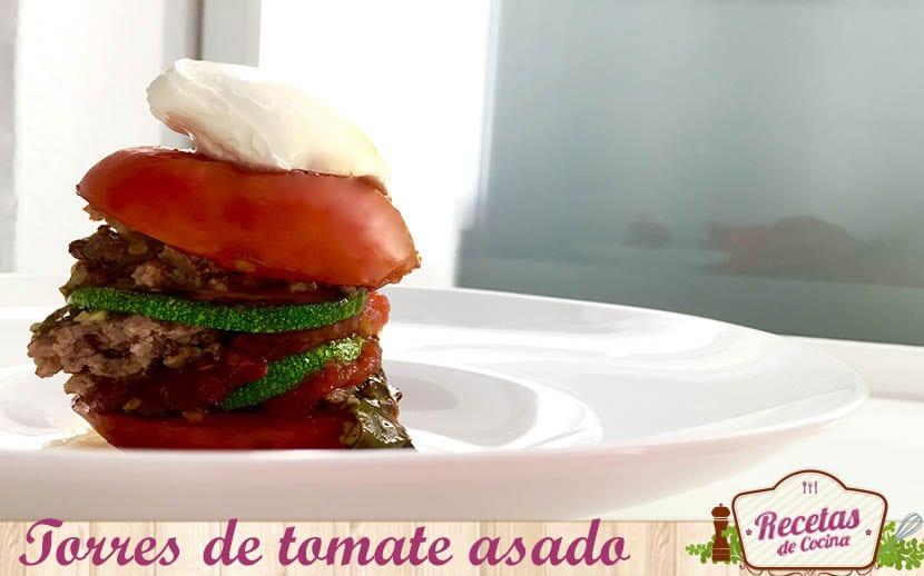 torres de tomate asado