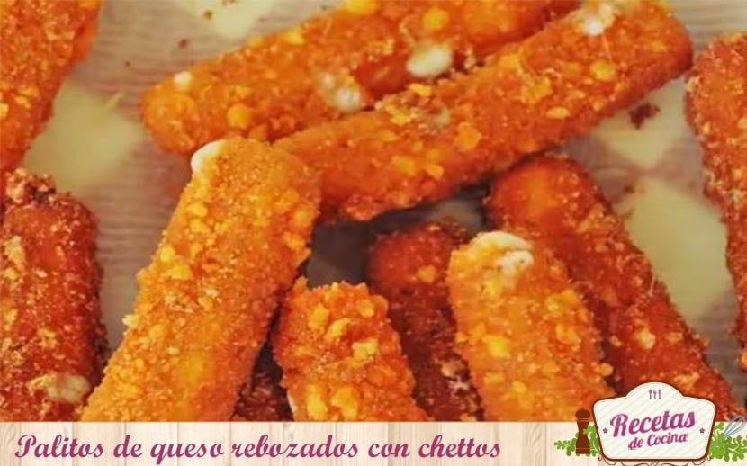 Palitos de queso rebozados con chettos