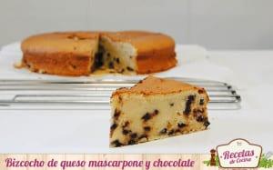 Bizcocho de queso mascarpone y chocolate