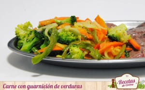 Filetes con guarnición de verduras