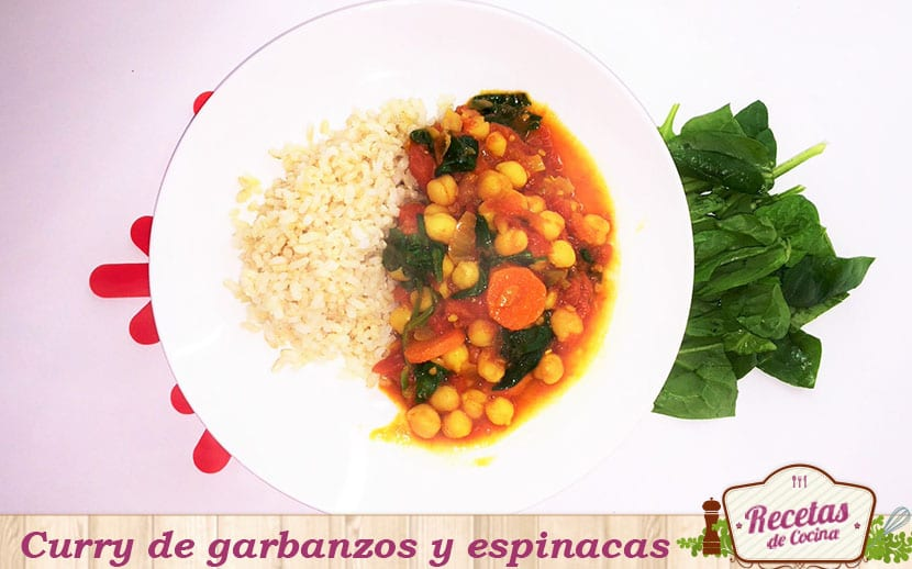 curry de garbanzos y espinazas