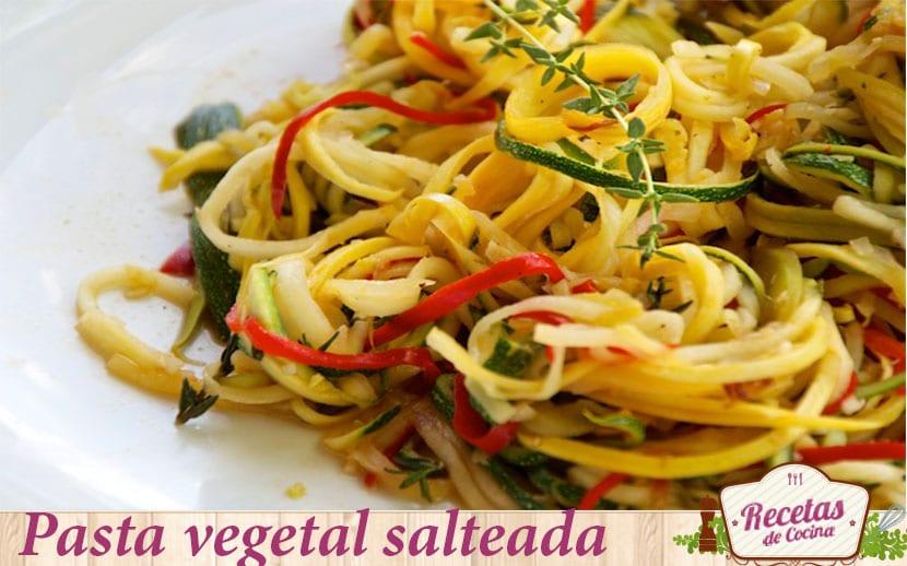 pasta vegetal salteada