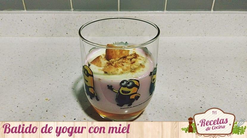 Batido de yogur y miel