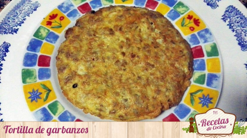 Tortilla de garbanzos