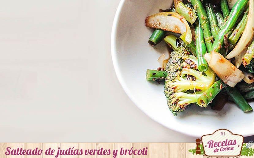 Salteado de judias verdes y brócoli