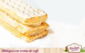 Milhojas con crema de café