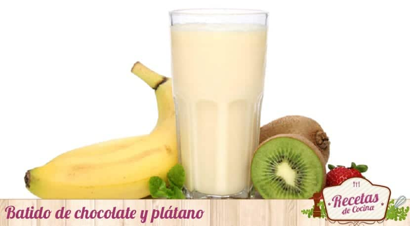 Batido de chocolate y plátano