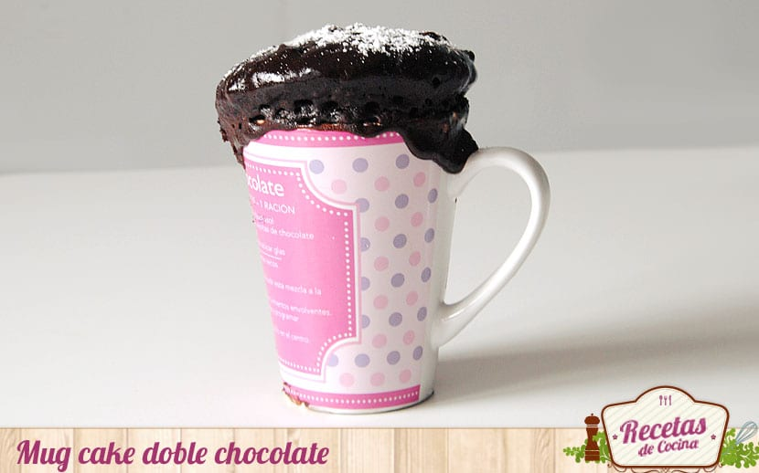 Mug cake doble chocolate