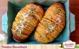 Patatas asadas tipo Hasselback