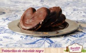 Palmeritas de chocolate negro