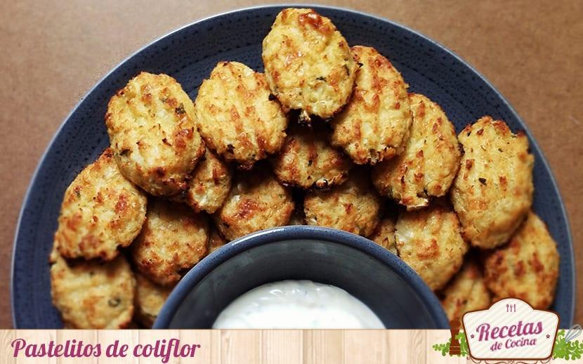 Pastelitos de coliflor y queso