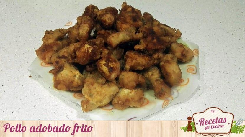 Pollo adobado frito