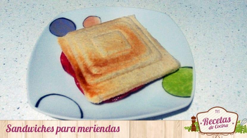 Sandwiches para meriendas