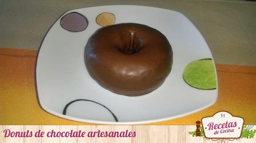 Donuts de chocolate artesanales