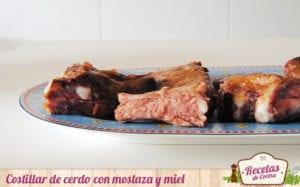 Costillar de cerdo con mostaza y miel