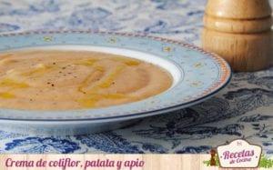 Crema de coliflor, patata y apio