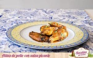 Alitas de pollo con salsa picante