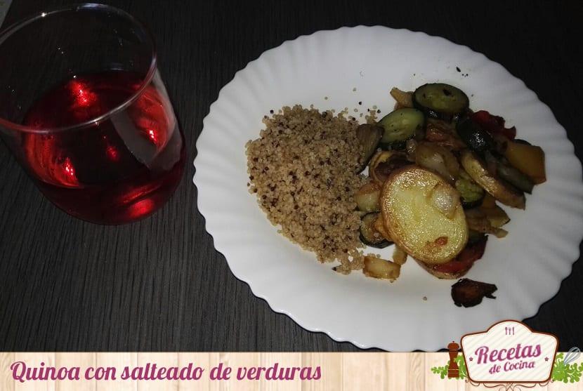 Quinoa con salteado de verduras