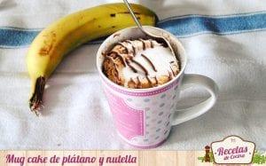 Mug cake de plátano y nutella