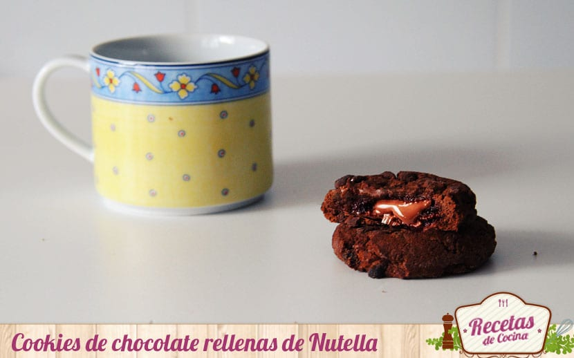 Cookies de chocolate rellenas de Nutella