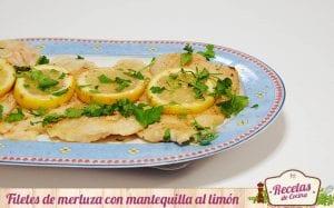 Filetes de merluza con mantequilla al limón