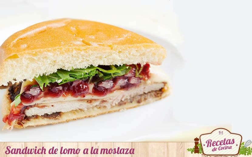 Sandwich de lomo a la mostaza