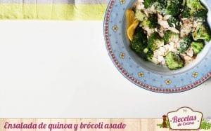 Ensalada de quinoa y brócoli asado