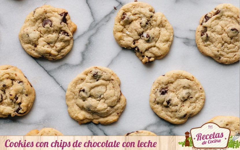 Cookies con chips de chocolate con leche