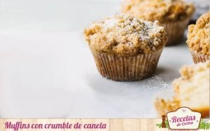 Muffins con crumble de canela