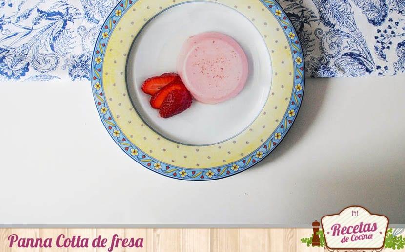 Panna Cotta de fresa